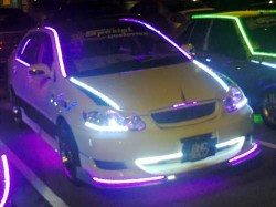 modified car exterior led