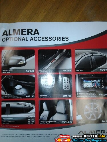 wpid Nissan almera optional accessories navigation pack