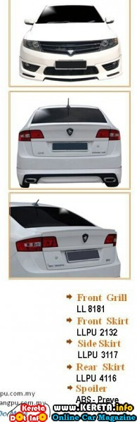 wpid Proton preve body kit skirting spoiler aerokit