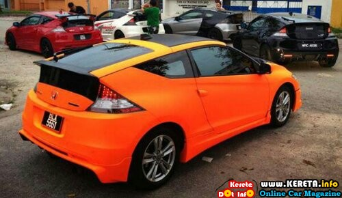 wpid modified honda crz special paint orange plasti dip
