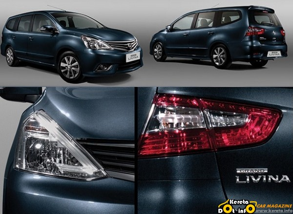 kereta new nissan grand livina baru 2013 2014 light lamp bumper