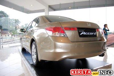 new honda accord sedan back 2008